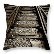 Tracks Into Tracks - 2 Throw Pillow