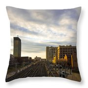 Tracks Philadelphia Throw Pillow