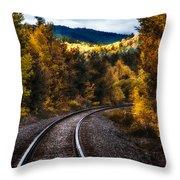 Tracks Through The Mountains  Throw Pillow