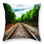 Tracks Through The Woods Throw Pillow