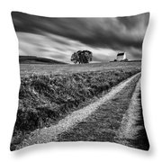 Tracks To Corgarff Castle Throw Pillow