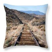 Tracks To Nowhere Throw Pillow