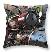 Traction Engine 2 Throw Pillow