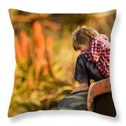 Tractor Boy Throw Pillow