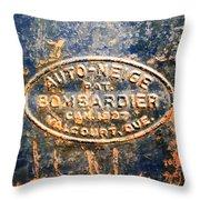 Tractor Emblem Throw Pillow