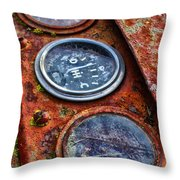 Tractor Gagued Throw Pillow