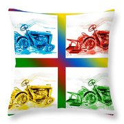 Tractor Mania II Throw Pillow by Kip DeVore
