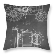 Tractor Patent Throw Pillow