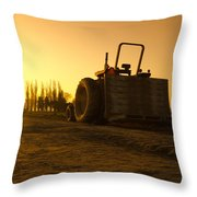 Tractor Sunrise Throw Pillow