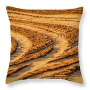 Tractor Tracks Throw Pillow