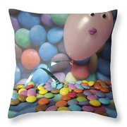 Tracy Felt Like A Real Airhead Surrounded By All These Smarties Throw Pillow