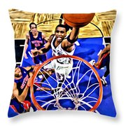 Tracy Mcgrady Painting Throw Pillow