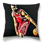 Tracy Mcgrady Portrait Throw Pillow