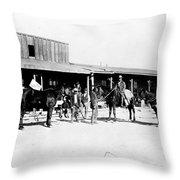 Trading Post, 1882 Throw Pillow