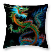 Tradition Asian Dragon Illustration 1 Throw Pillow
