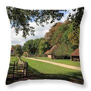 Traditional Countryside Britain Throw Pillow