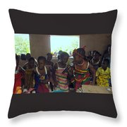 Traditional Dance And Singing Throw Pillow