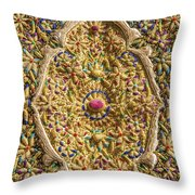 Traditional Embroidery In Jerusalem Israel Throw Pillow