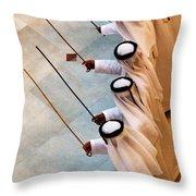Traditional Emirati Men's Dance  Throw Pillow