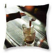 Traditional Espresso Coffee And Machine  Throw Pillow