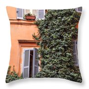 Traditional House Rome Italy Throw Pillow