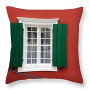 Traditional Red House Throw Pillow