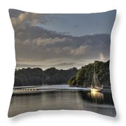 Traditional Sailing Boat Throw Pillow