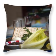 Traditional Sedder Table Throw Pillow