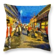 Traditional Shopping Area Throw Pillow