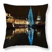 Trafalgar Christmas Tree Throw Pillow