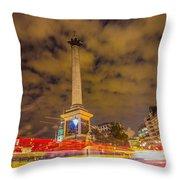 Trafalgar Light Trails Throw Pillow