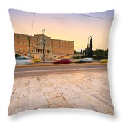 traffic at Syntagma Throw Pillow
