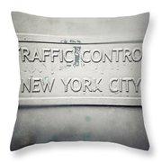 Traffic Control Throw Pillow