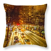 Traffic In A Big City Throw Pillow