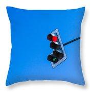 Traffic Light - Featured 3 Throw Pillow