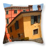 Traffic Mirror Soave Italy Throw Pillow