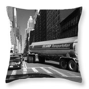 Traffic - New York In Perspective Series Throw Pillow