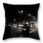 Traffic On Indian Roads Throw Pillow