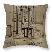 Traffic Signal Patent Throw Pillow