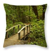 Trail Bridge Toketee 1 Throw Pillow