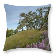 Trail Of Lupine Throw Pillow