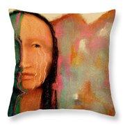 Trail Of Tears Throw Pillow by Johanna Elik