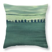 Trail Of Trees Throw Pillow