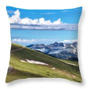 Trail Ridge Road In Rocky Mountain National Park Throw Pillow