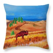 Monarch Of The Plains Throw Pillow