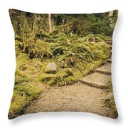 Trail Through The Moss Throw Pillow
