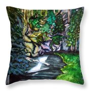Trail To Broke-off Throw Pillow