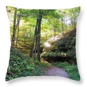 Trail To Devil's Punch Bowl Wildcat Den Throw Pillow