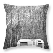 Trailer Throw Pillow by Diane Diederich