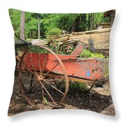 Trailer Flowerbed Throw Pillow